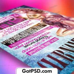 Saturdays at the Strip Club Flyer Psd Template - Gotpsd.com