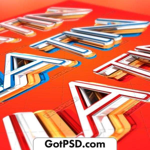 Latin 3D Title Flyer Psd Template - Gotpsd.com