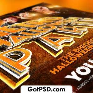 Retro Halloween Party Flyer Psd Template - Gotpsd.com