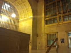 Union Station at night.