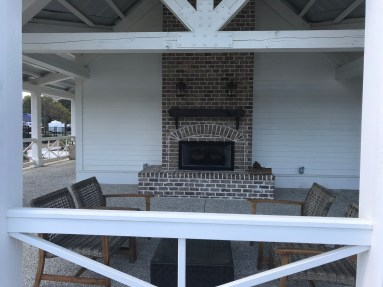 Creekfire porch fireplace