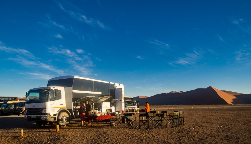 Breakfast at Dune 45 in Sossusvlei