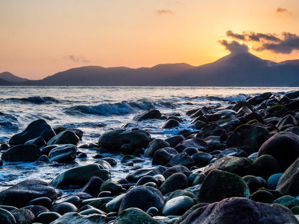 Pebble beach on Geoje Island