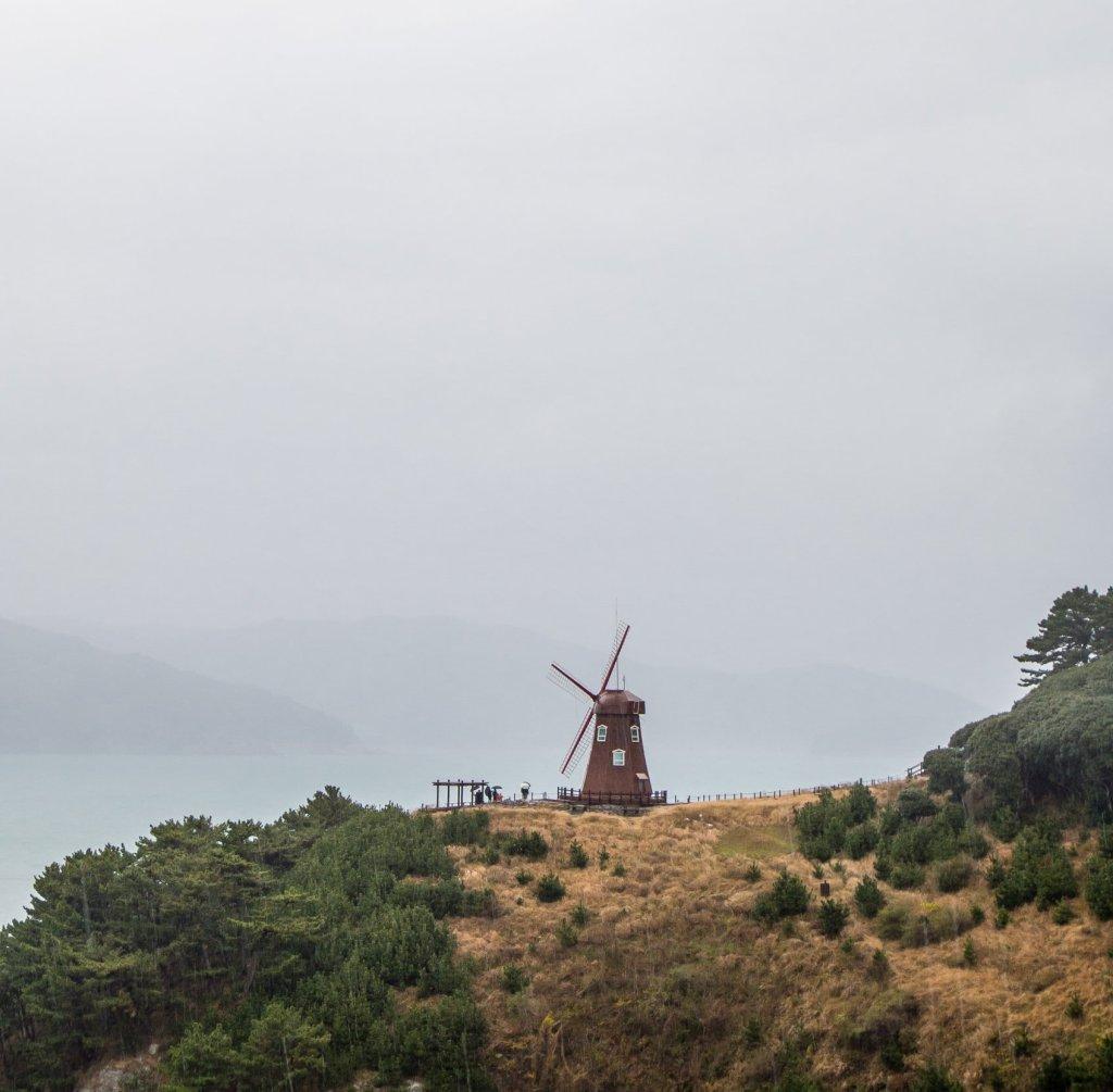 Windmill at Windy Hill on Geoje Island