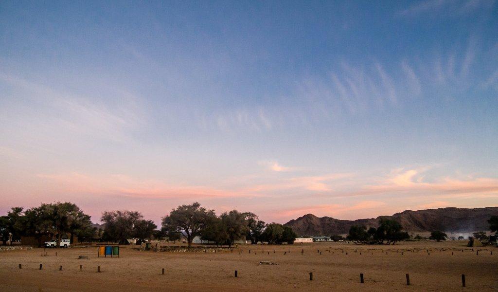Campsite at Sesriem Camp near Sossusvlei, Namibia