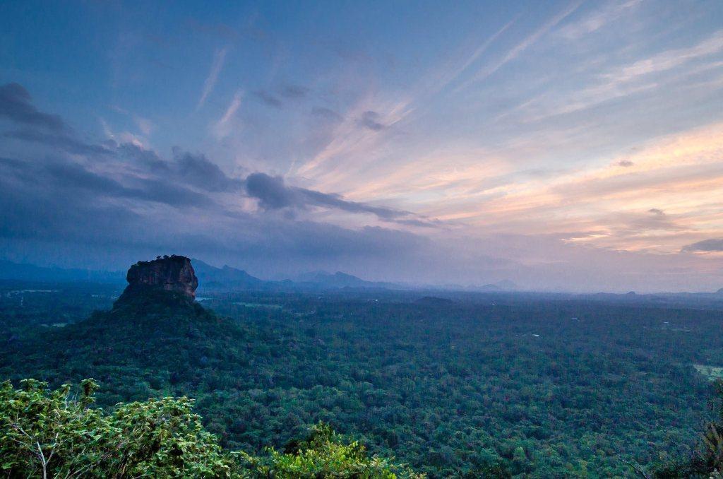 Beautiful sunset on Pidurangala