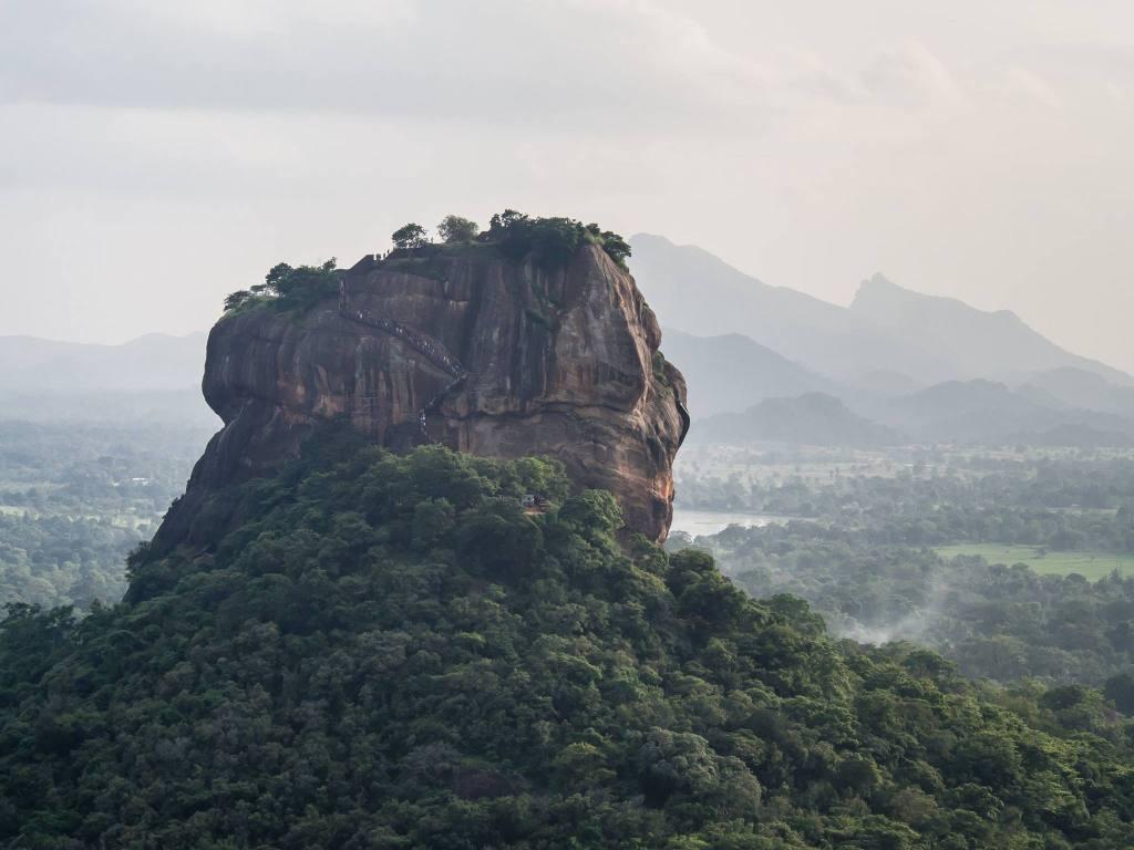 Sigiriya view from Pidurangala Rock