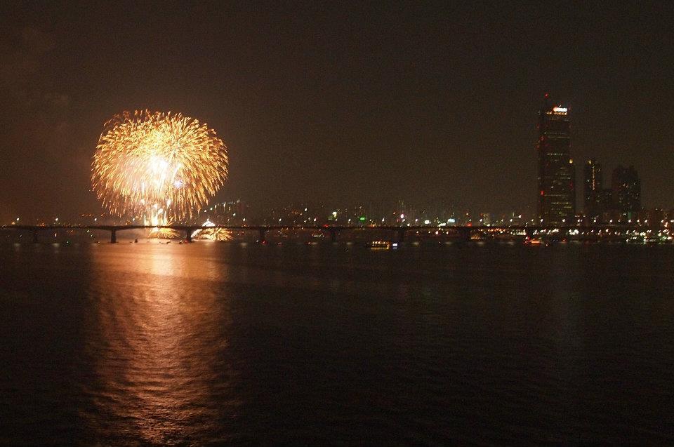 Seoul Fireworks Festival from Mapo Bridge