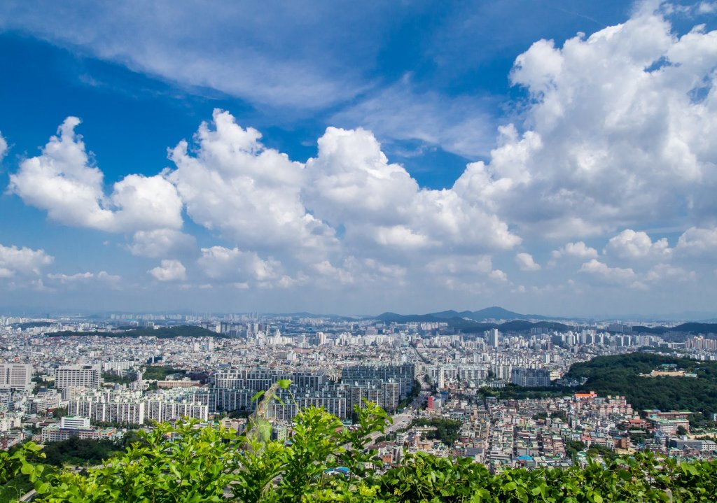 City views for miles and miles from Munhaksan on this hike in incheon.