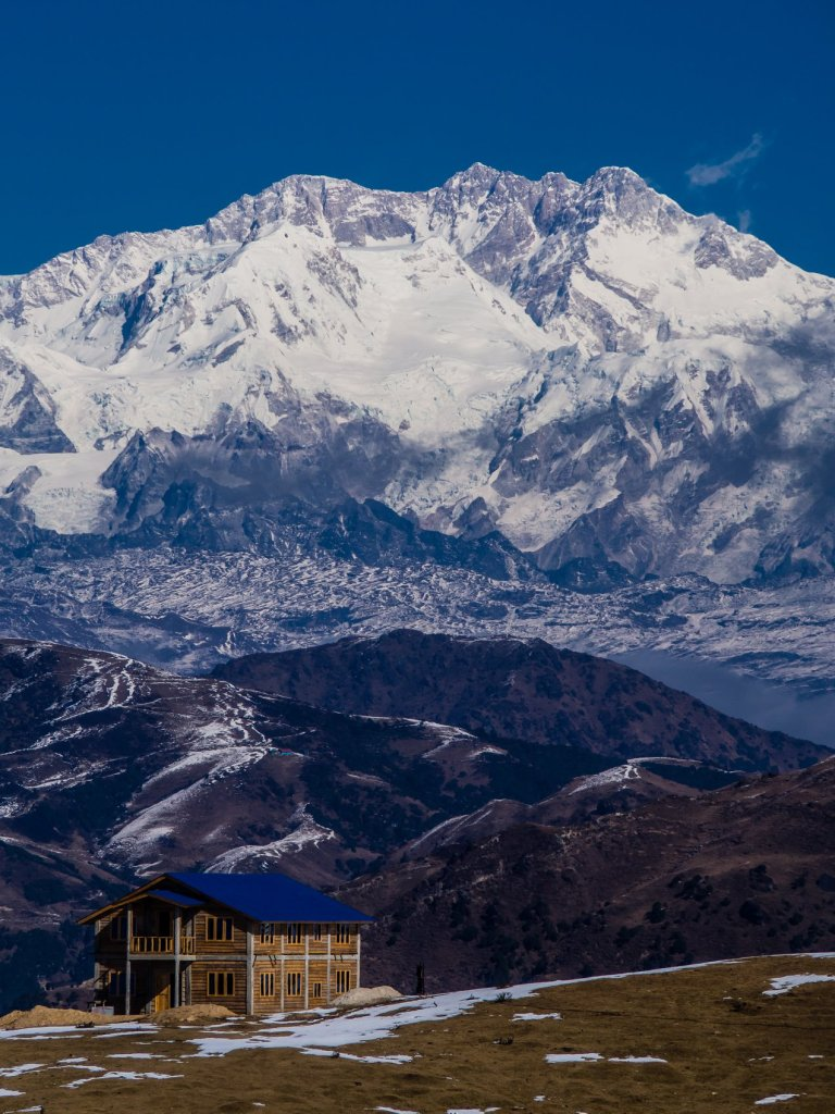Kanchenjunga view on the way to Molley