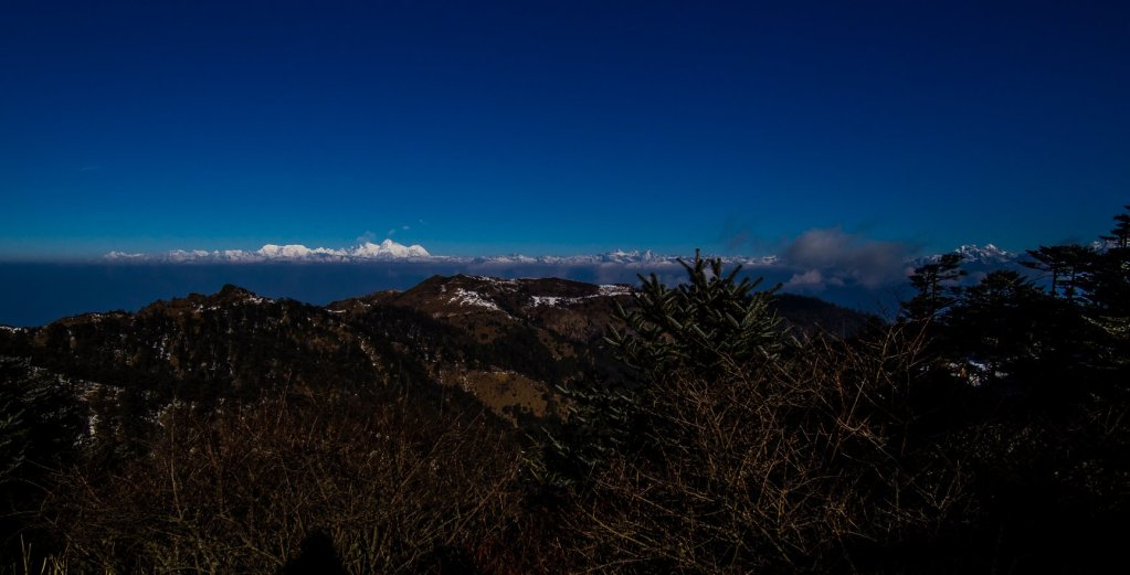 Everest Range View just outside of Sandakphu