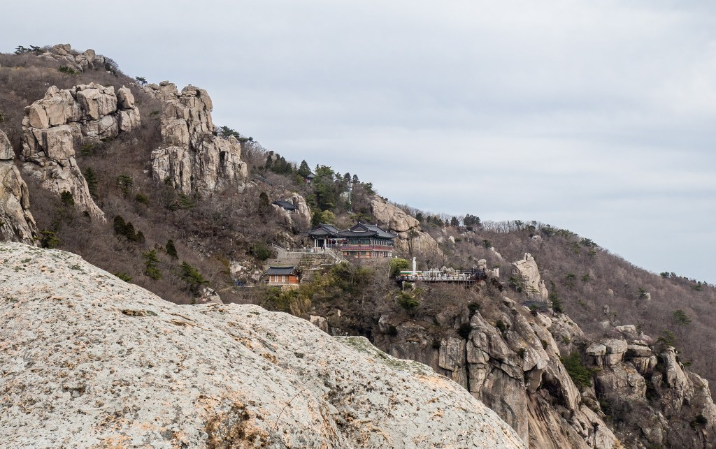 Boriam Hermitage among the rocks of Mount Geumsan on Namhae Island
