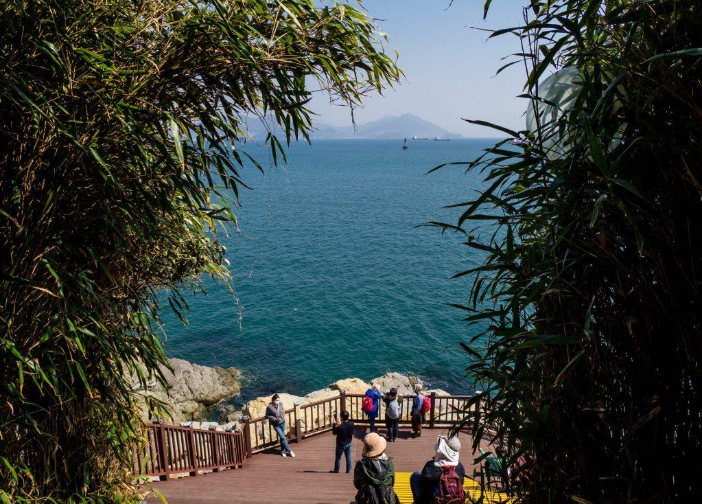 Nice ocean views on Odongdo, Yeosu.