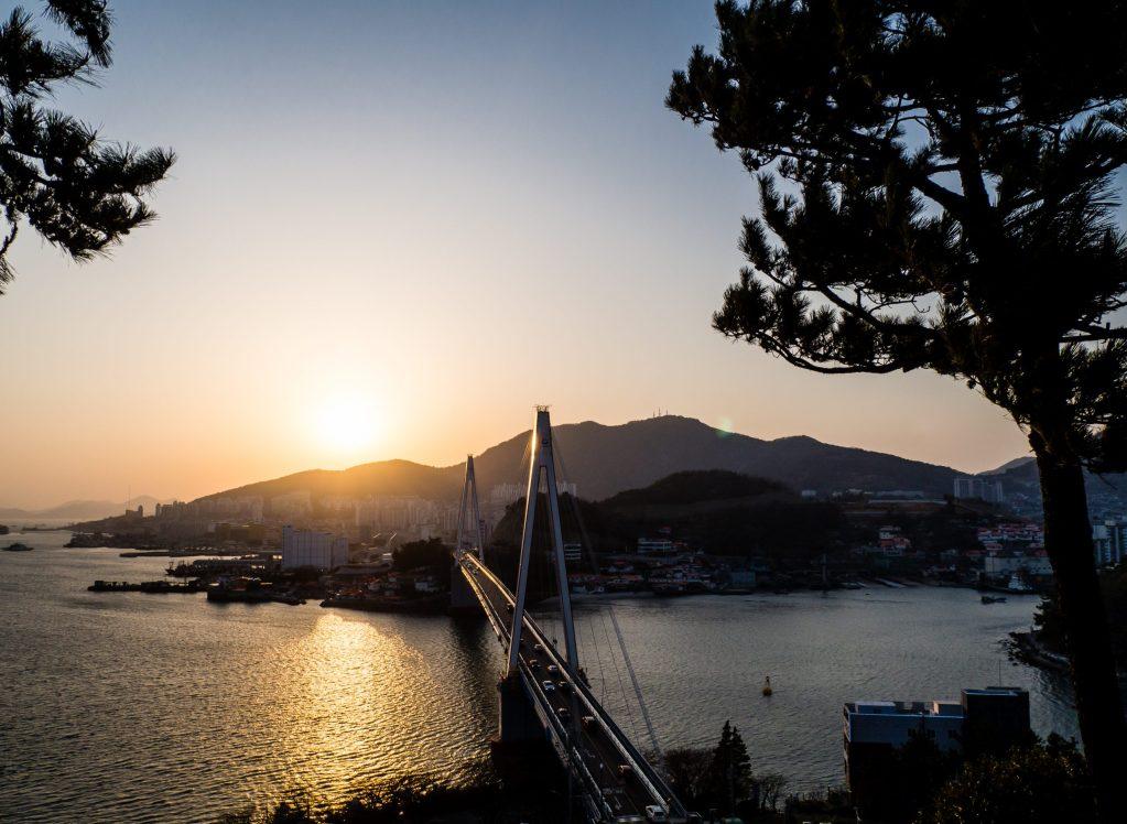 Sunset from Dolsan Park in Yeosu