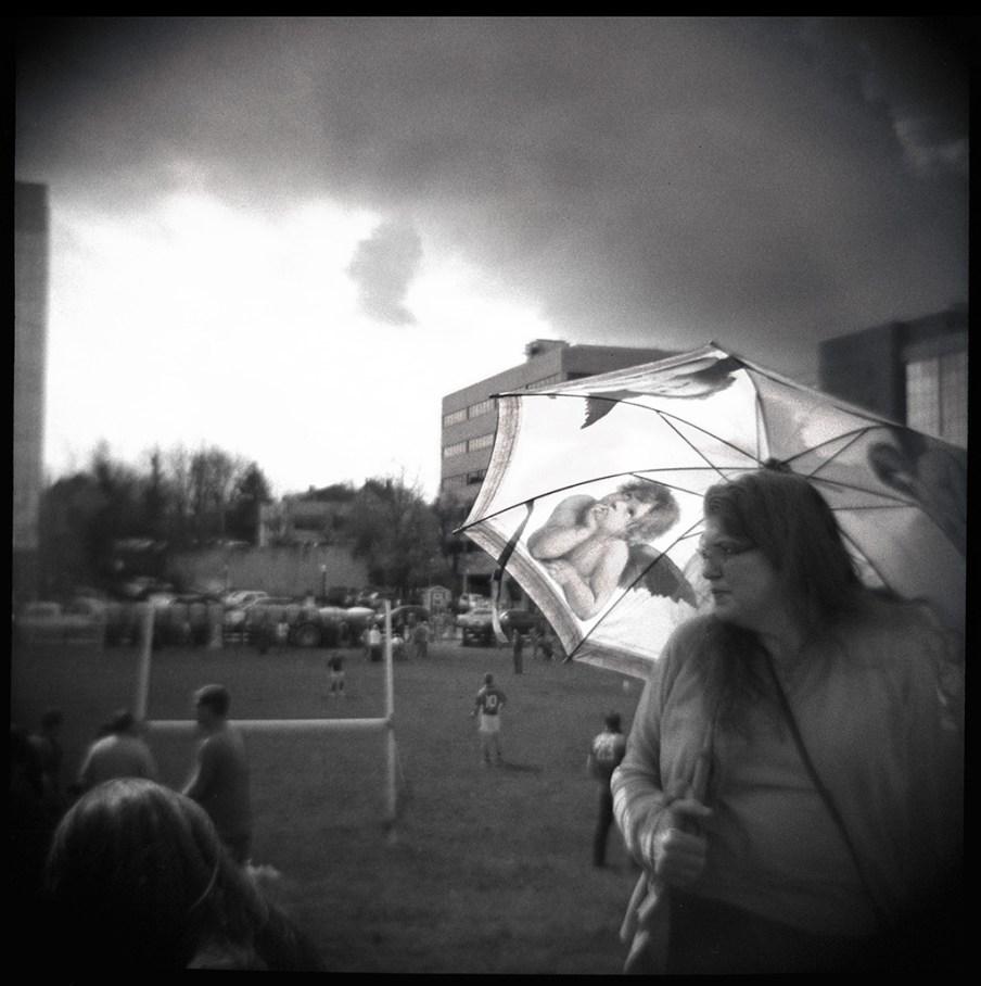 under your umbrella.