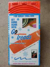 One of our first package designs.  This Go Treads tool (in its original package) is 27 years old.