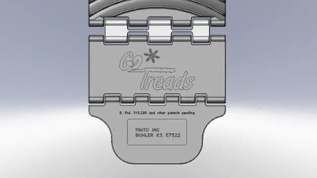 GoTreads Custom logo molding