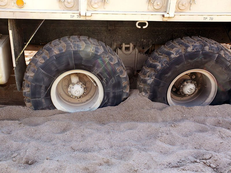 Sand + Military Transport Truck
