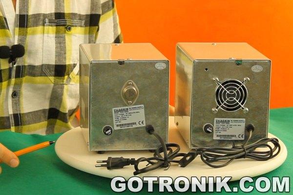 Zasilacze RXN-1503D i RXN-1505D widok tylnej strony