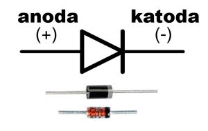 dioda półprzewodnikowa opis wyprowadzeń