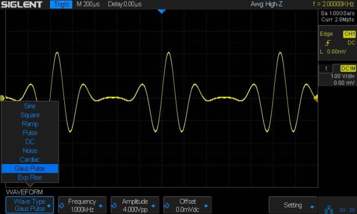 wbudowana generator funkcyjny arbitralny DDS (SDS1000X-S Model)