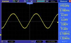 sinusoida f=193,0Hz