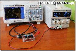 zestawiony układ pomiarowy do badania generatora XR2206