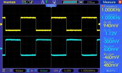 pomiar 1: potencjometry od barwy dźwięku w pozycji neutralnej