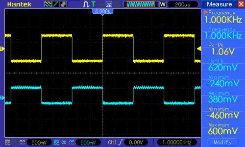 pomiar 2: potencjometry od barwy dźwięku w pozycji neutralnej | zmiana wzmocnienia - głośności