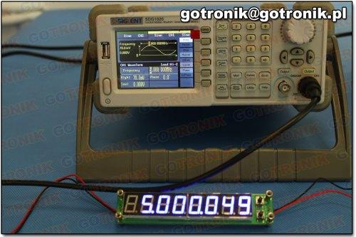 Pomiar częstotliwości: 5 MHz