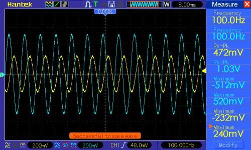 Pomiar przy f=100Hz