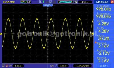 Prezentacja pomiarów automatycznych Hantek DSO5102BM