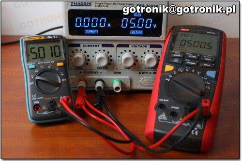 Pomiar napięcia 5V DC (miernik 101)