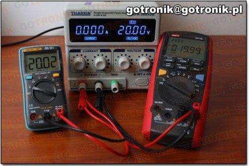 Pomiar napięcia 20V DC (miernik 101)