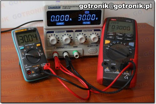 Pomiar napięcia 30V DC (miernik 102)