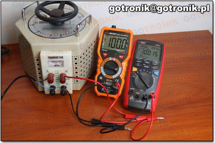 Pomiar napięcia 100 V AC