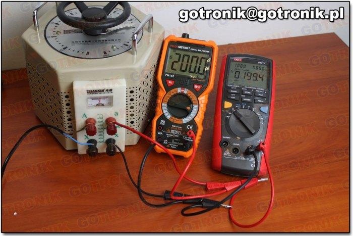Pomiar napięcia 200 V AC