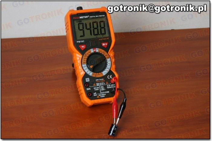 Pomiar pojemności kondensatora 1000 uF