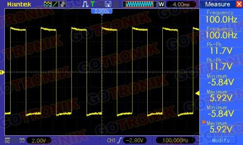 Sygnał prostokątny 100 Hz