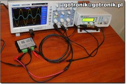 Wzmacniacz FPA0510S do generatorów DDS