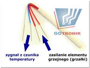 zdjęcie grzałki zintegrowanej z czujnikiem temperatury