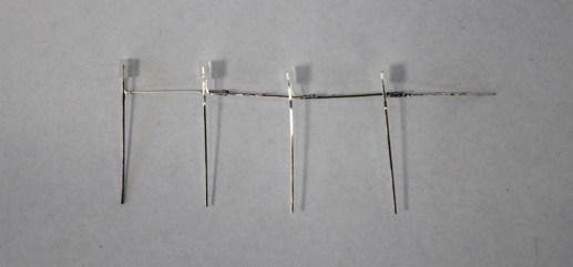Przylutowane w szereg diody