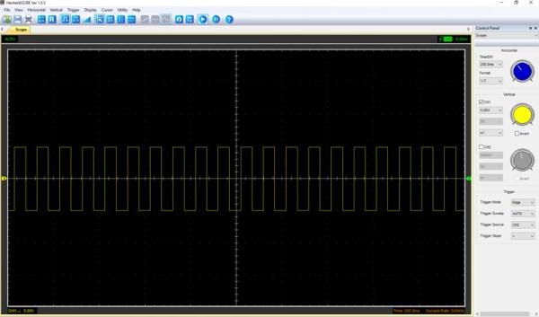 Pomiar 1: f=10Hz, amplituda 10V