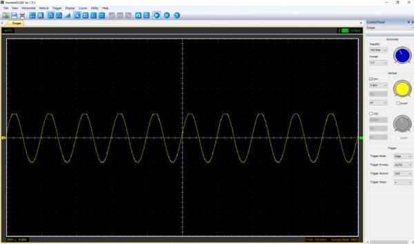 Pomiar 1: f=10Hz, amplituda 5V