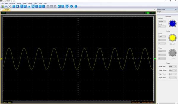Pomiar 4: f=10kHz, amplituda 10V