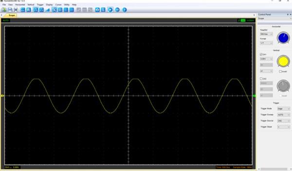 Pomiar 3: f=1kHz, amplituda 10V