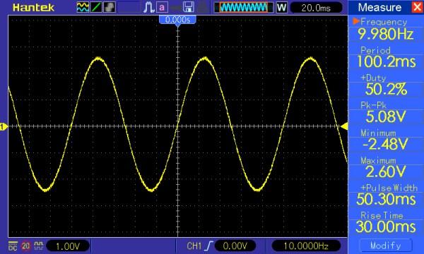 Pomiar 1: f=10Hz