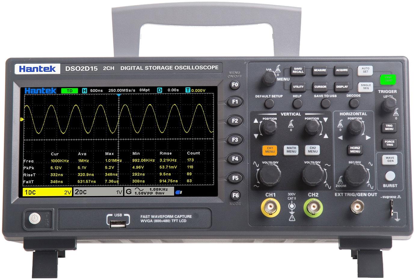 DSO2C15 oscyloskop cyfrowy 2x150MHz Hantek
