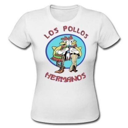 Los Pollos Hermanos Female T-Shirt Womans White Gustavo Fast Food Top