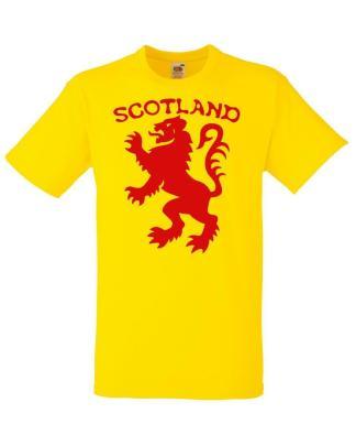 Mens Scotland the Lion Rampant Scottish Tartan Army Football Rugby T-Shirt